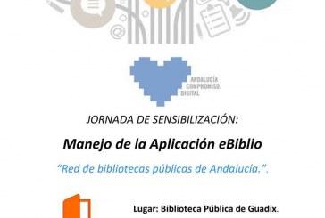 Cómo coger en préstamo libros electrónicos en eBiblio en la biblioteca de Guadix