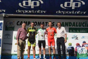 El accitano José Gabriel Fernandez sube al podium de los campeonatos de Andalucía de ciclismo