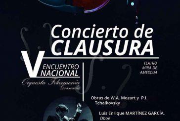 La  Orquesta Filarmonía Granada clausura su V Encuentro Nacional el 12 de agosto en el Teatro Mira de Amescua