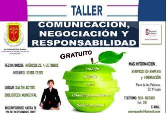 """Taller gratuito """"Negociación, comunicación y responsabilidad"""""""
