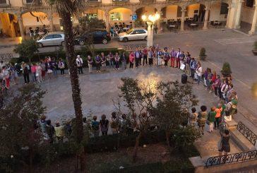Concentración contra la violencia de género en Guadix
