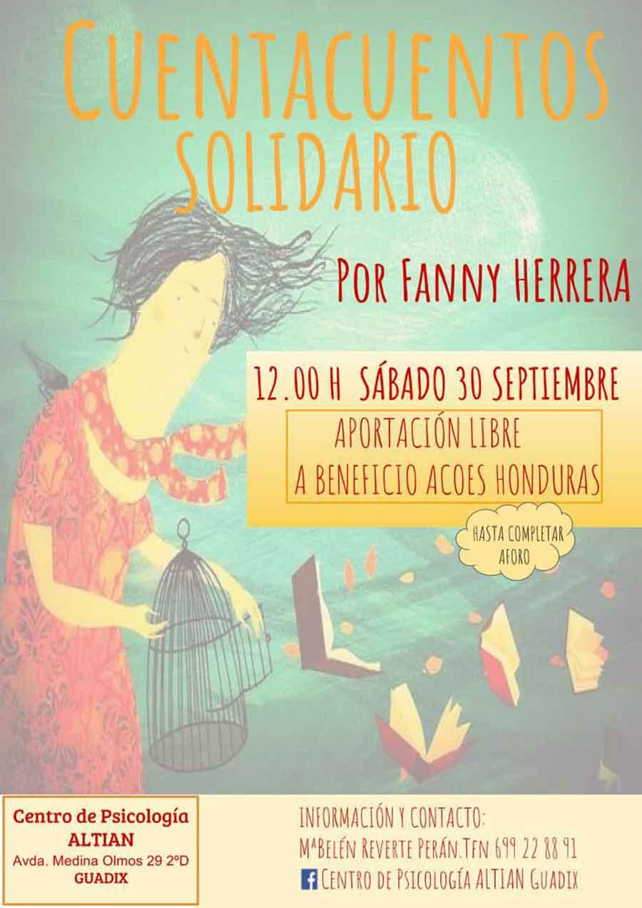 Cuentacuentos solidario en Altian Psicología Guadix
