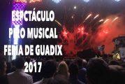 Magnifico espectáculo piromusical de la pirotecnia Mª Angustias Pérez pone el punto y final a la Feria de Guadix 2017