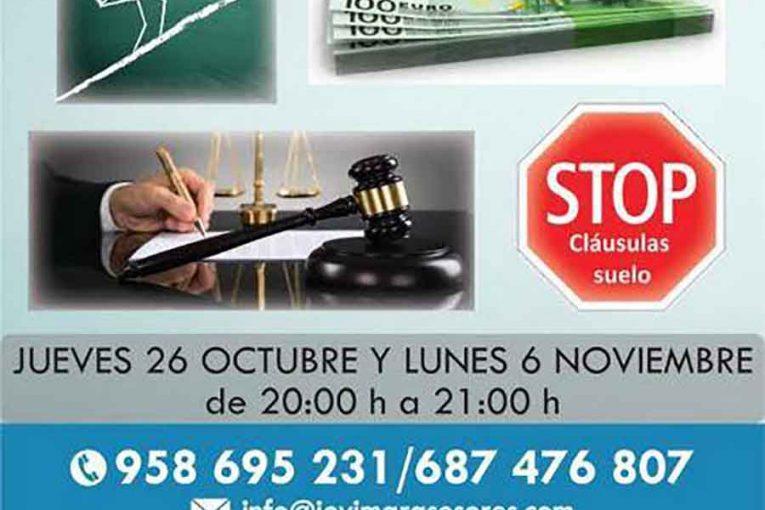 """Charla informativa """"Clausulas suelo"""" en JOVIMAR"""