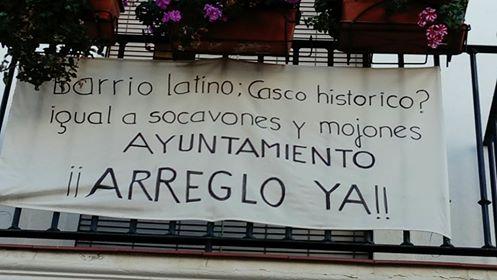 Pancartas Barrio latino