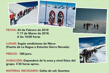 Azimut programa sendas rutas con raquetas de nieve los próximos 24 de febrero y 17 de marzo