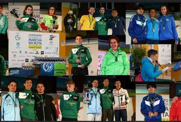 A J.A. Guadix domina el medallero en el campeonato de Andalucía de marcha en ruta 2018