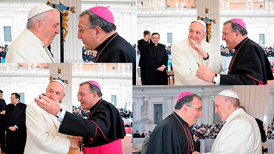 Obispo de Guadix con el Papa Francisco