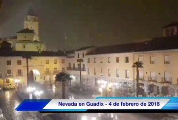 Comienza a nevar en Guadix y comarca [Vídeo]