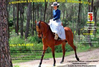 Se postpone la I Romería en Honor a San José, Patrón de Benalúa por las inclemencias meteorológicas