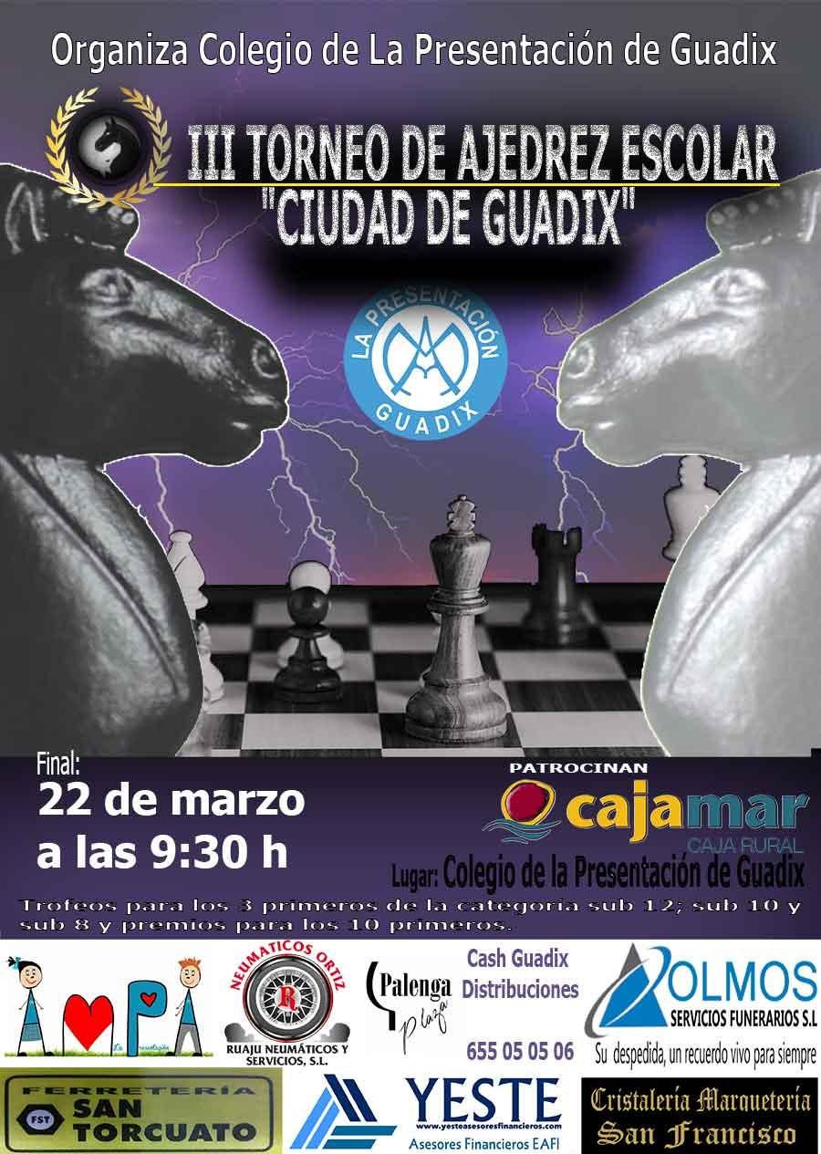 """III Torneo de Ajedrez Escolar """"Ciudad de Guadix"""""""