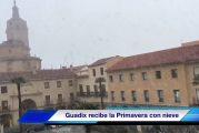 Guadix y comarca reciben la primavera con una nevada [Vídeo]