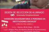 """Curso de atención sociosanitaria a personas en instituciones sociales en el marco de """"Granada Empleo Joven"""" de Diputación para jóvenes de entre 16 y 29 años"""