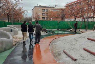 Avanzan a buen ritmo las obras del parque infantil que se está remodelando en Santa Clara con cargo a Inversiones Financieramente Sostenibles