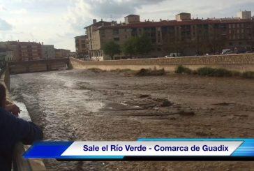 Sale el Río Verde tras las tormentas de estos días