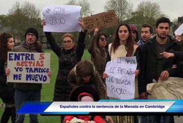 """Una accitana se moviliza junto a españoles en Cambridge, para protestar contra la sentencia de """"La manada"""""""