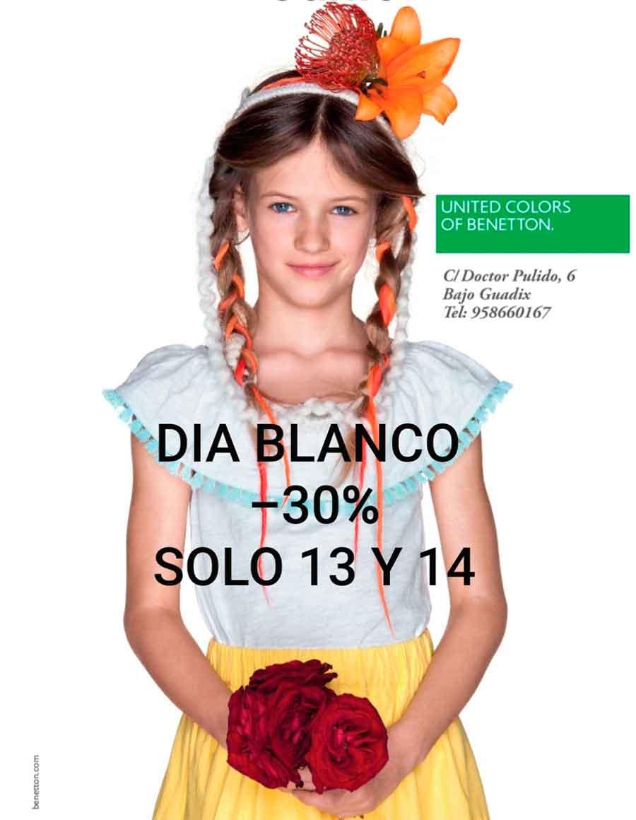 Día blanco en Benetton Guadix