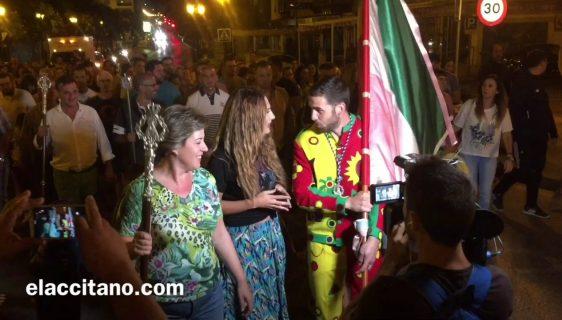 Despedida del Cascamorras en Guadix antes de partir a Baza