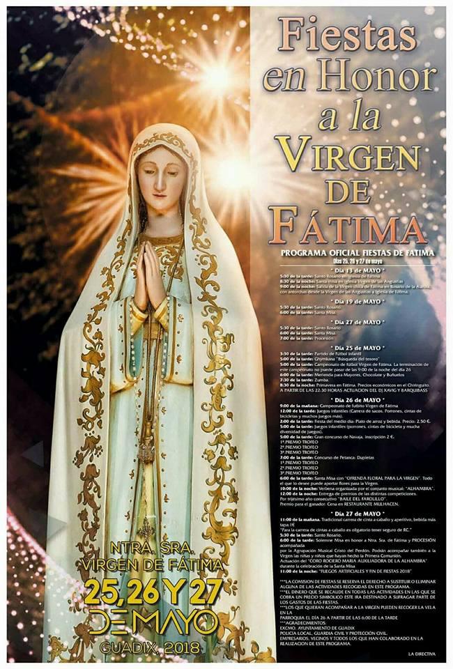Virgen de fatima fiestas