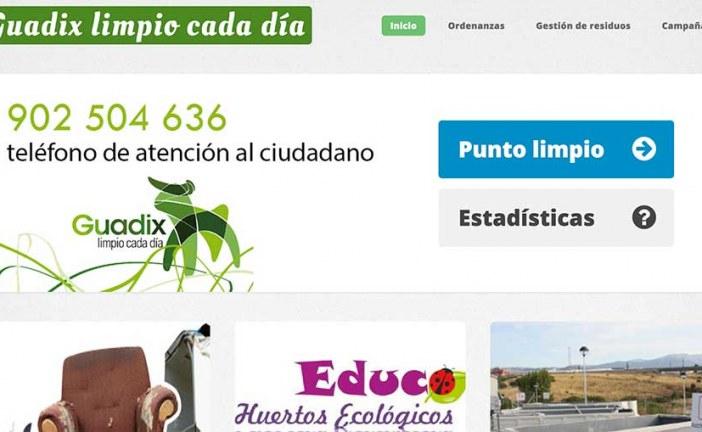 Visita la nueva página web del Servicio de Limpieza Viaria y Residuos Sólidos Urbanos de Guadix ofrece una mayor capacidad de interacción con el ciudadano
