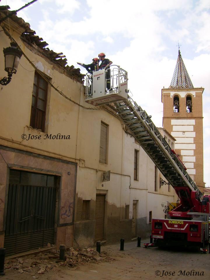 bomberos tejado