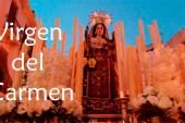 Procesión de la Virgen del Carmen de Guadix desde la iglesia de la Virgen de las Angustias
