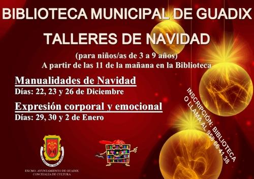 BIBLIOTECA GUADIX CARTEL TALLERES NAVIDAD 2014
