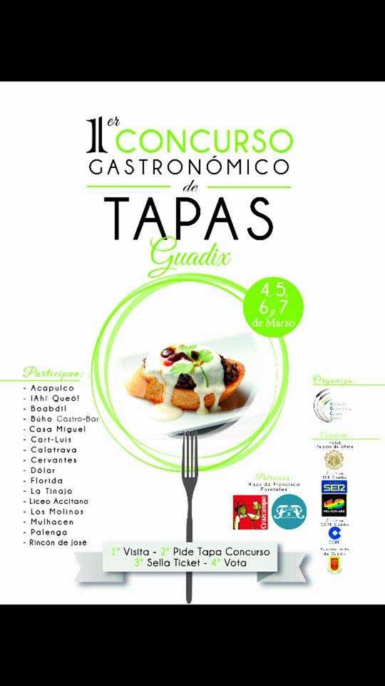 Concurso gastronómico de tapas Guadix