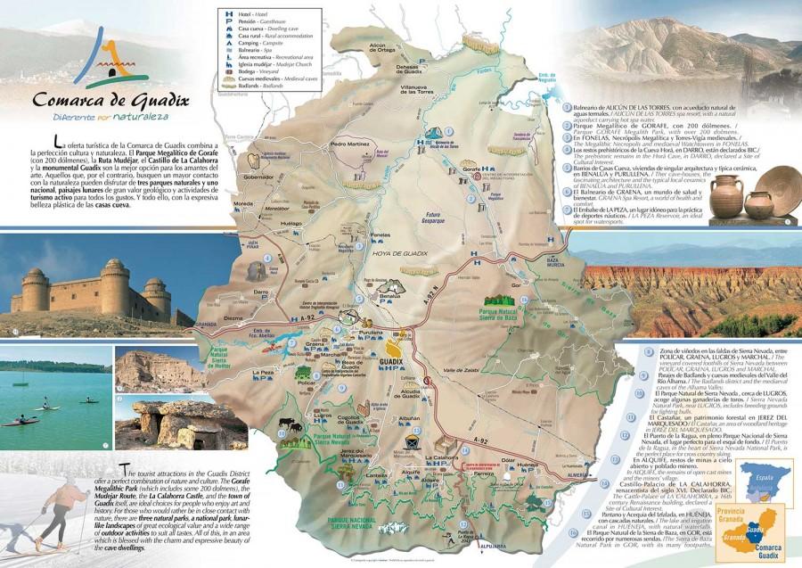 Mapa comarca de Guadix