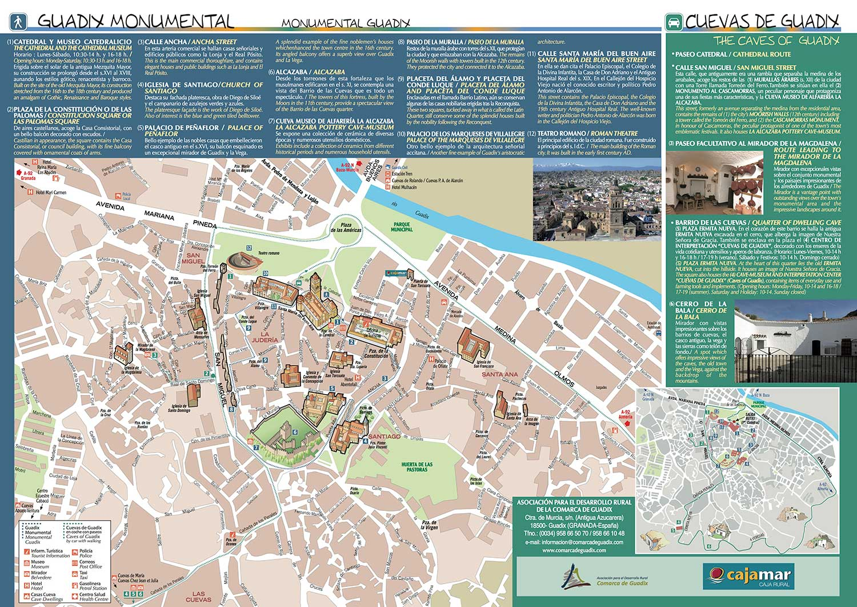 Mapa Guadix monumental