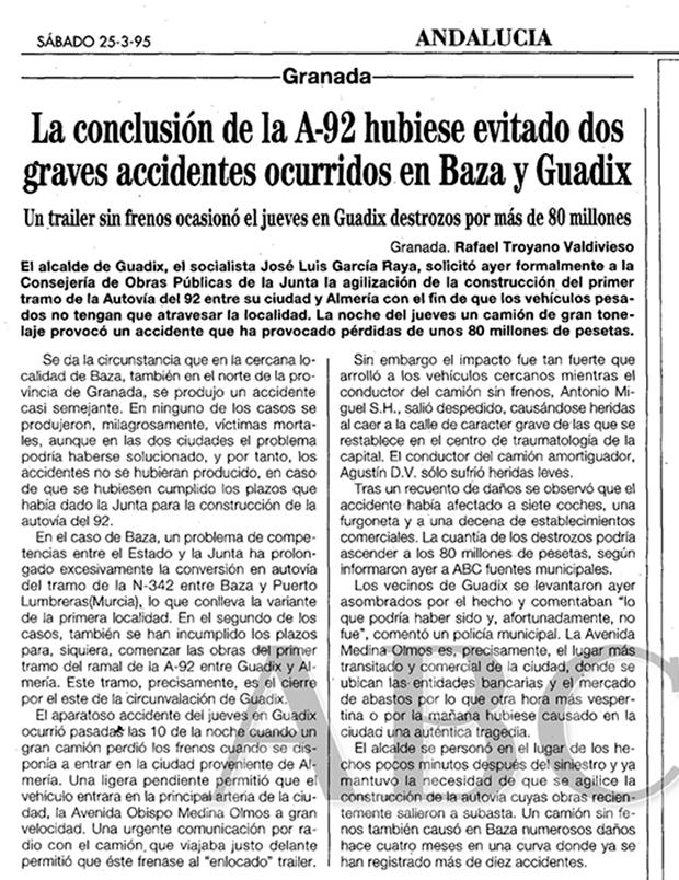 Accidente en Guadix de 1995 en ABC