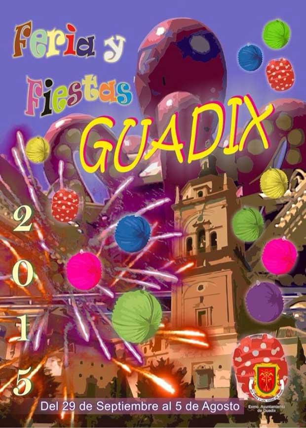 Cartel de la feria y fiestas Guadix 2015