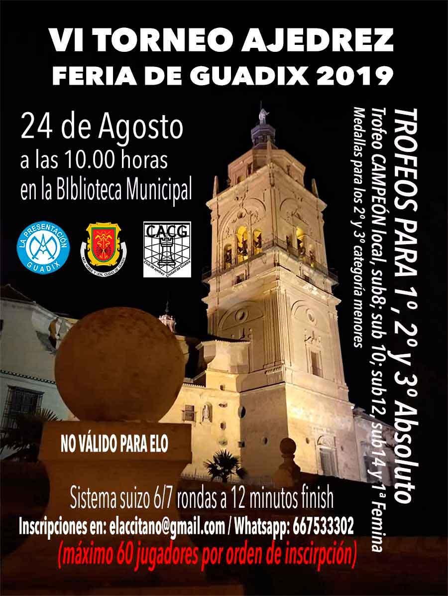 VI Torneo de ajedrez Feria de Guadix
