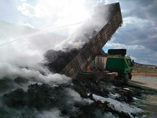 Incendio camión