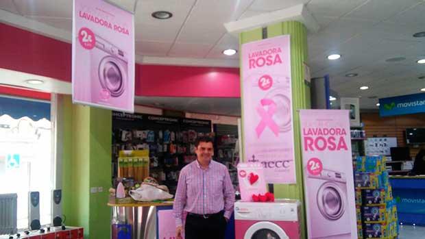 Lavadora Rosa contra el cancer