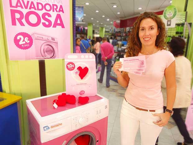 Lavadora Rosa en Romacho