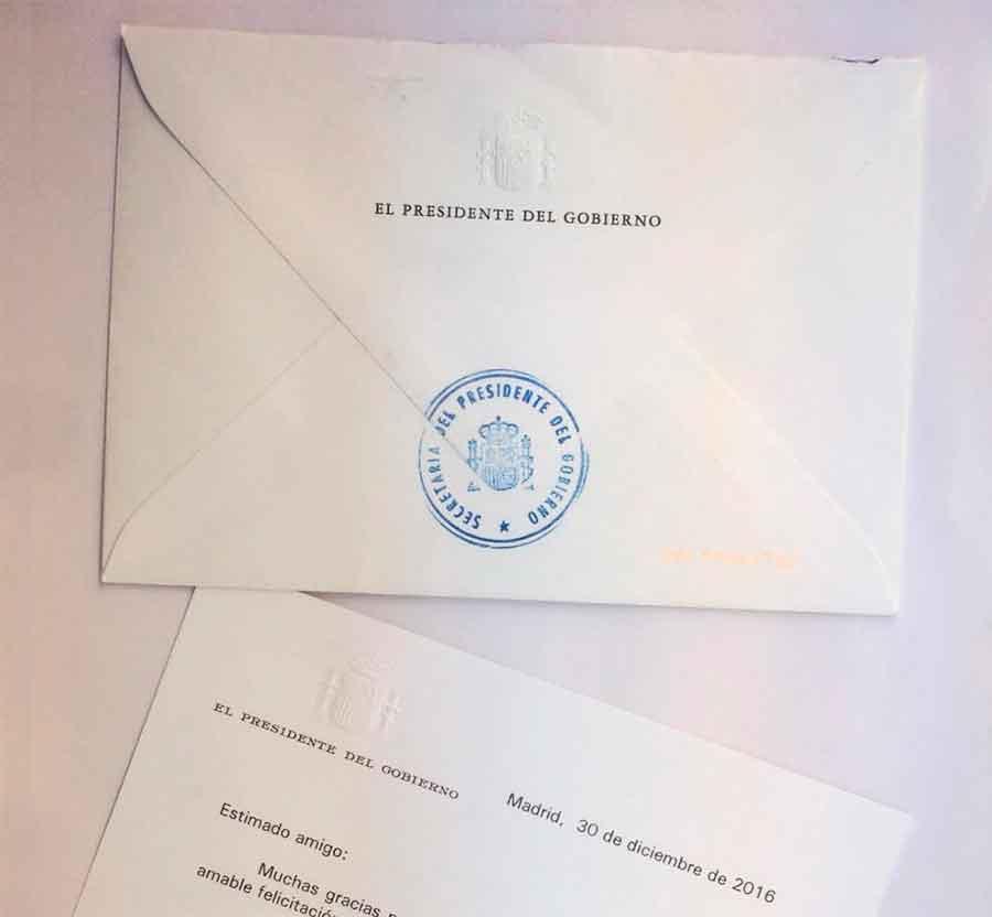 Carta de Rajoy a Romacho