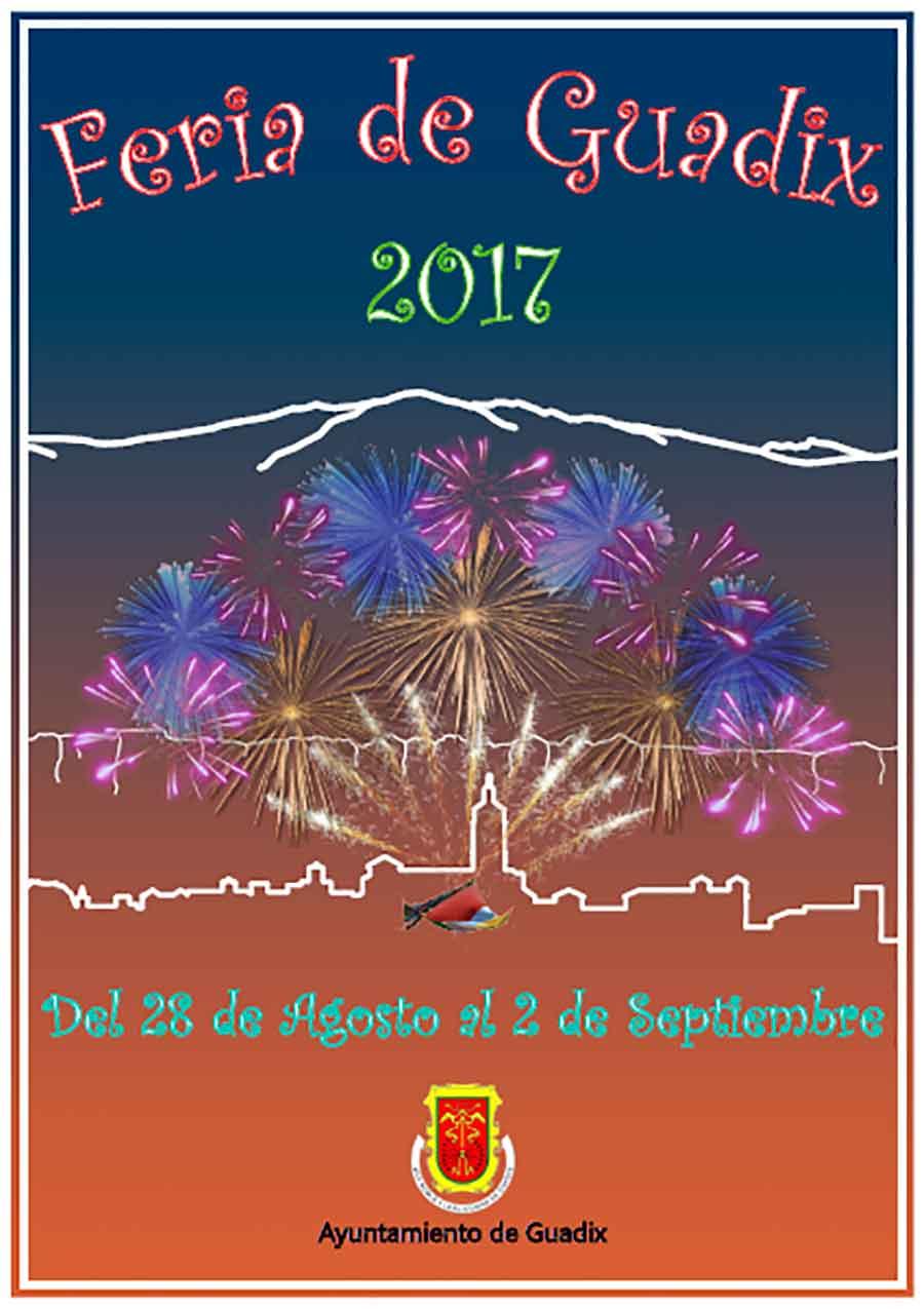 Cartel Feria y fiestas Guadix 2017