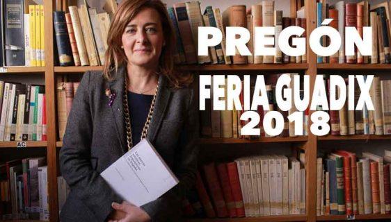 Juana María Gil Ruiz realizará el Pregón Feria y fiestas de Guadix 2018