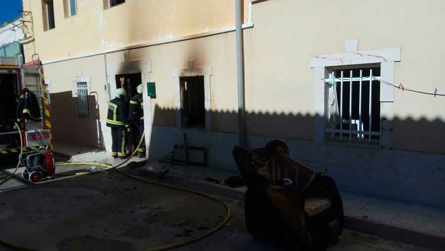 Incendio en Pedro Martinez