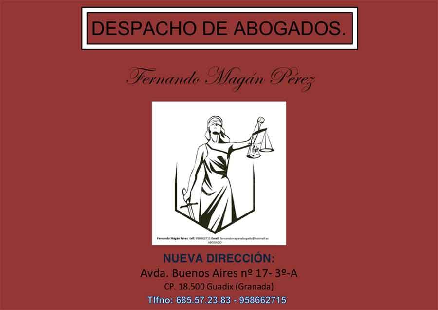 "Nueva apertura despacho de abogados ""Fernando Magán"""