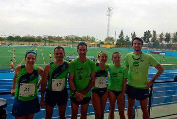 Pleno para los atletas del Juventud Atlética Guadix en el Cto. Andalucía Marcha en Pista