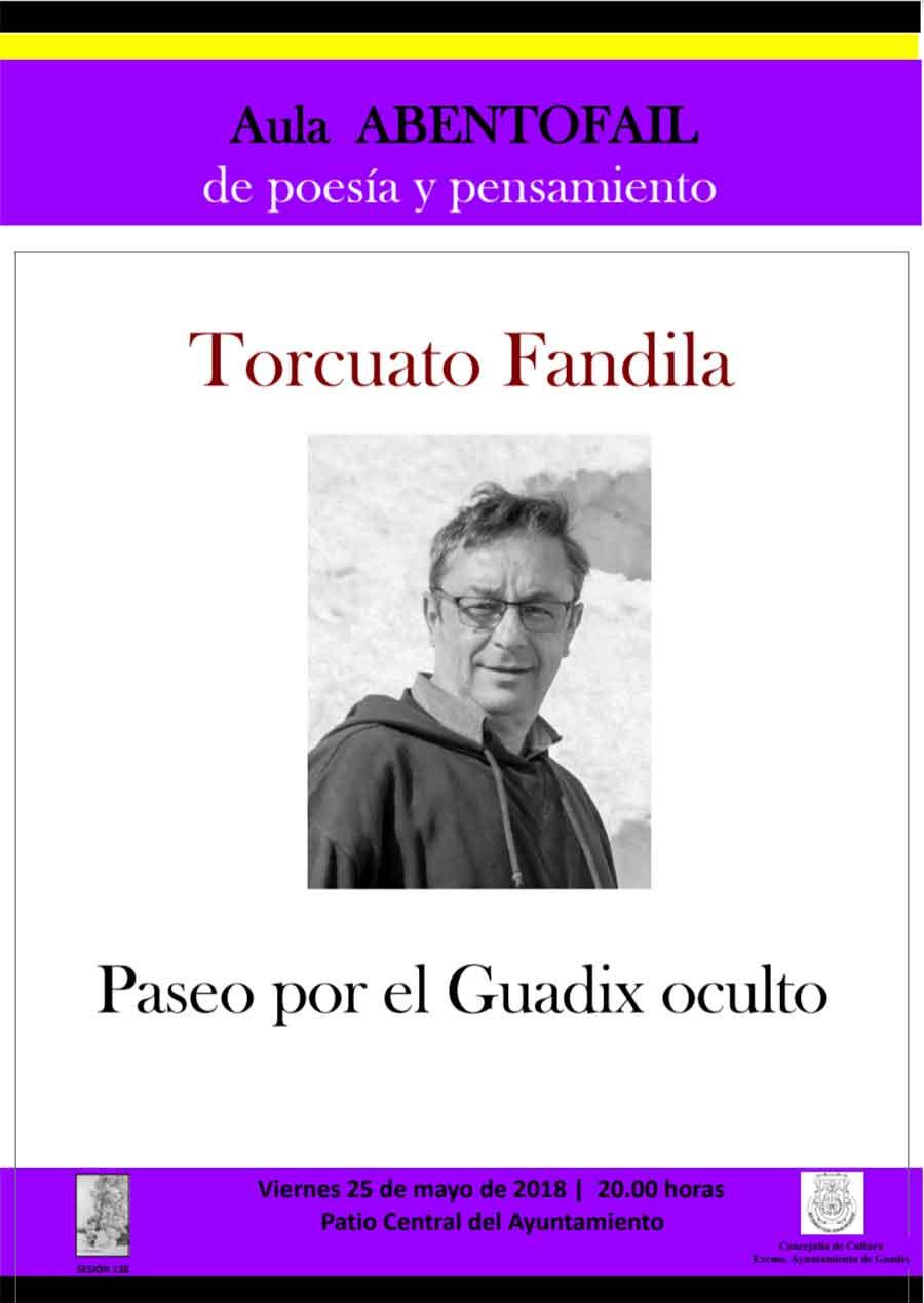 Torcuato Fandila propone un paseo por el Guadix oculto en el Aula Abentofail de este mes de mayo