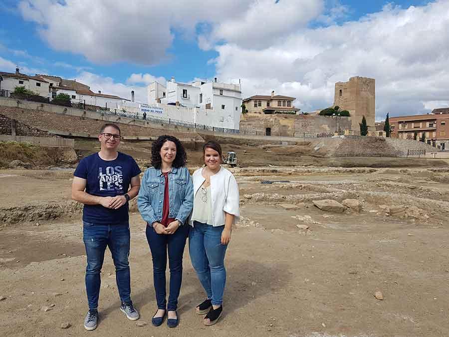 Campo de trabajo en el teatro romano de Guadix
