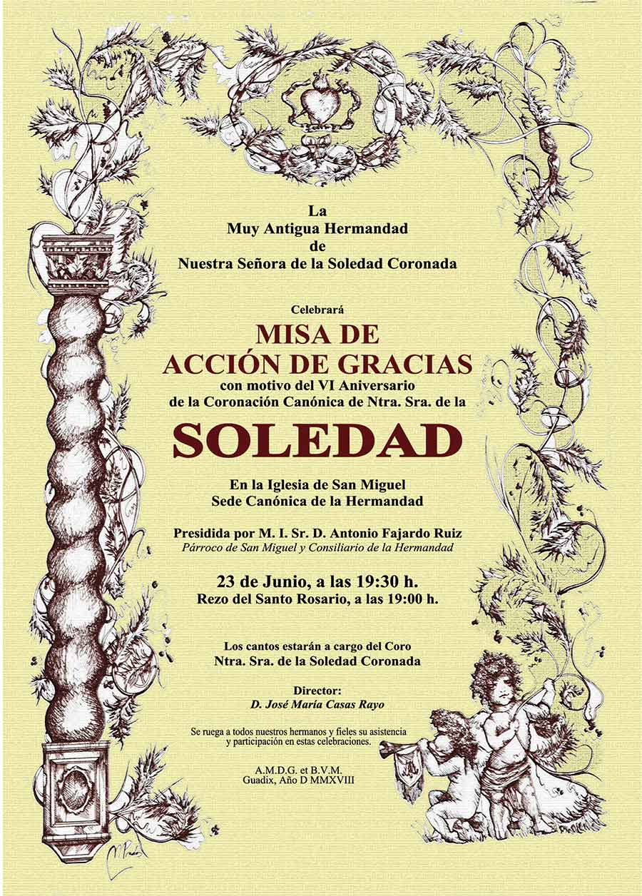 Misa acción de gracias Soledad Guadix