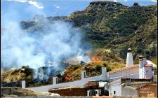 Incendio esta mañana cerca del Mirador de la Magdalena