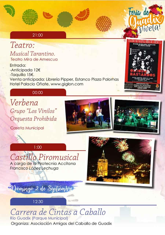 1 de septiembre - Feria de Guadix