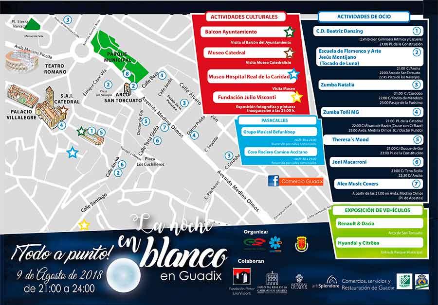 Mapa La noche en blanco Guadix