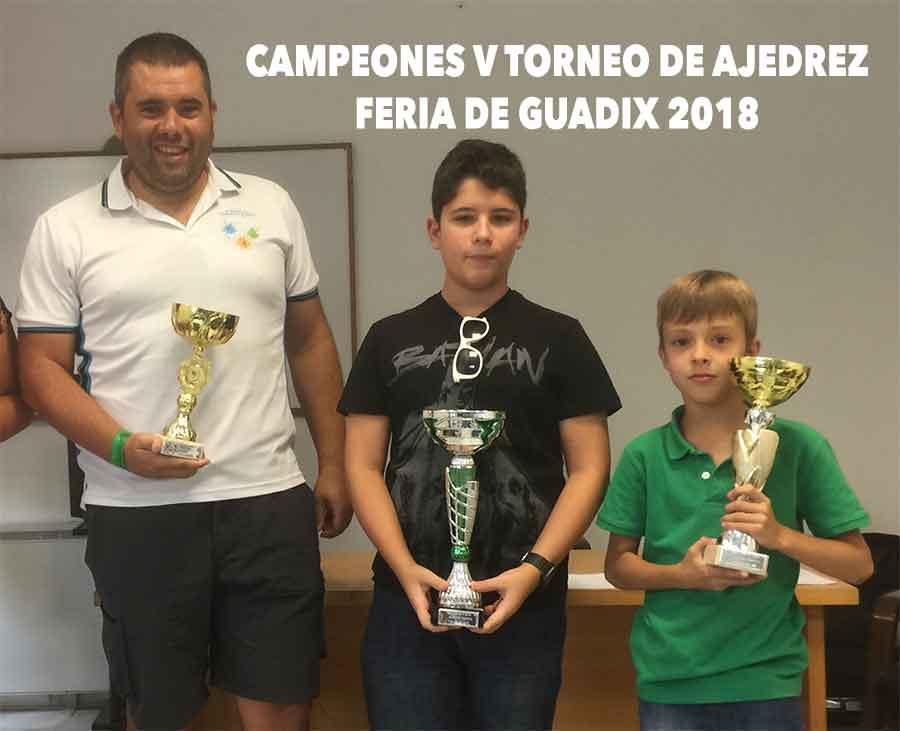 V Torneo de ajedrez Feria de Guadix 2018