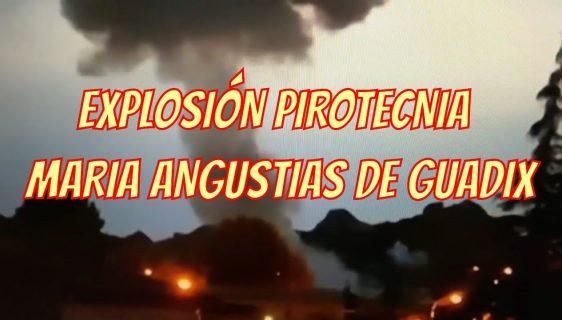 3 fallecidos en la explosión de la pirotecnia Mª Angustias de Guadix